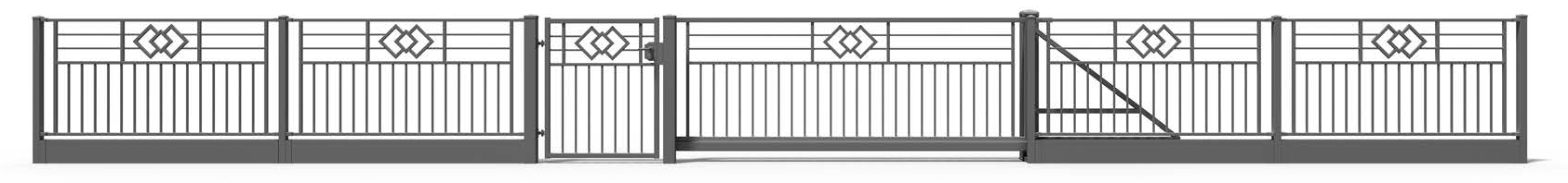 metallzaun opal zaun plus. Black Bedroom Furniture Sets. Home Design Ideas